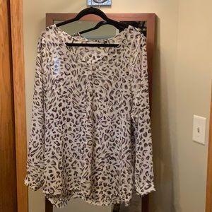 Cabi leopard blouse